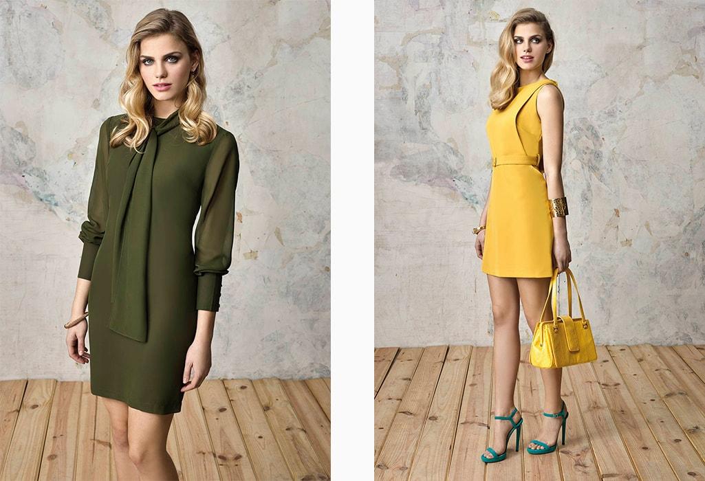 renata vestido verde y amarillo