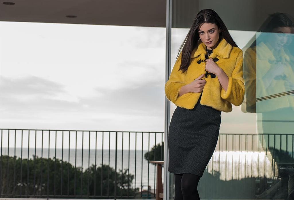 Ecla chaqueta amarilla Otoño Invierno 2017